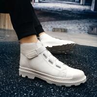 CUM 秋季新款男鞋高帮鞋红色潮鞋发型师短靴男小白鞋马丁靴个性休闲鞋