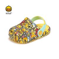 B.Duck小�S��童鞋男女童�鐾闲�夏季新款�和�透�庑蓍e洞洞鞋B1175329