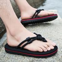 拖鞋男夏季人字拖男士厚底防滑沙滩鞋懒人凉拖学生户外海边潮凉鞋