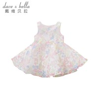 davebella戴维贝拉夏装新款女童连衣裙 宝宝背心裙蓬蓬裙DB7575