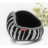 时尚男冬季可折叠护耳包耳暖  新品斑马毛线保暖耳套耳罩