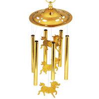 纯铜风铃挂件门挂饰 风水麒麟铜铃铛家居装饰品创意礼物节日礼品