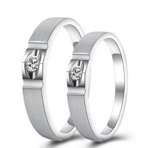 梦克拉 PT950钻石对戒 醉爱 情侣戒婚戒男戒女戒 PT950对戒 可礼品卡购买