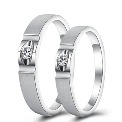 梦克拉 PT950钻石对戒 醉爱 情侣戒婚戒男戒女戒 PT950对戒 年中狂欢 行走的高级感 耀眼夺目 更出色