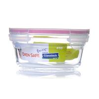 Glasslock 三光云彩OCCT045韩国钢化玻璃保鲜盒微波炉饭盒便当盒圆形玻璃碗饭菜碗450ML