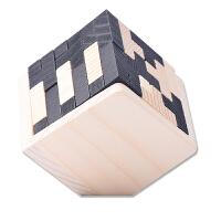 木质玩具俄罗斯方块 54个T组成 魔斗魔方 孔明锁鲁班锁