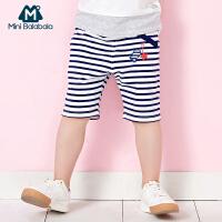 【99元3件】迷你巴拉巴拉男小童中裤薄款宝宝儿童新款韩版男童短裤夏五分裤子