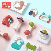babycare婴儿手摇铃玩具0-1岁新生幼儿宝宝益智牙胶0-3-6-12个月