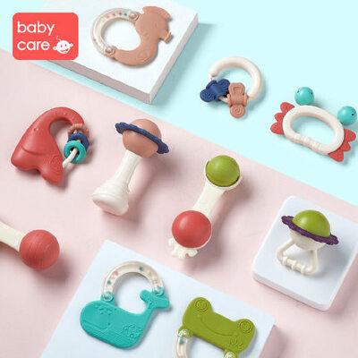 babycare婴儿手摇铃玩具0-1岁新生幼儿宝宝益智牙胶0-3-6-12个月 宝宝初生礼 铃声悦耳又安全 美学收纳