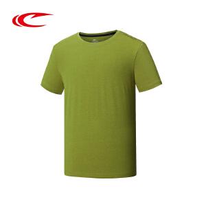 赛琪运动T恤男时尚修身圆领短袖T恤纯色透气跑步T恤116517