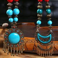 云南民族风项链复古串珠特色民族风服饰链西藏配饰项链项饰热卖品
