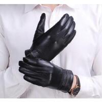 皮手套皮手套男士冬季 保暖薄款加绒男骑车户外手套