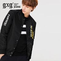 gxg jeans男装秋装新款时尚青年修身棒球领休闲夹克外套63621003