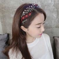 日韩版夏头箍发饰头饰发卡气质简约中间打结甜美时尚淑女发箍