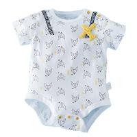 婴儿夏装包屁衣夏季女男连体衣三角哈衣短袖新生的儿宝宝衣服