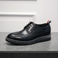 CUM 欧美气垫雕花皮鞋英伦厚底低帮透气单鞋休闲鞋男鞋