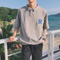 2018夏季新款男士短袖T恤休闲翻领POLO衫韩版潮流男装半袖男上衣