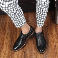 DAZED CONFUSED 潮牌系带英伦皮鞋布洛克男鞋潮雕花男士休闲鞋巴洛克擦色复古单鞋
