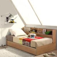 百意空间板式多功能休闲 收纳储物床单人床环保榻榻米双人床1.2米 1.5m