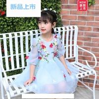 夏装女童裙子女童女宝宝夏季连衣裙新款女孩网纱裙装童装女公主裙