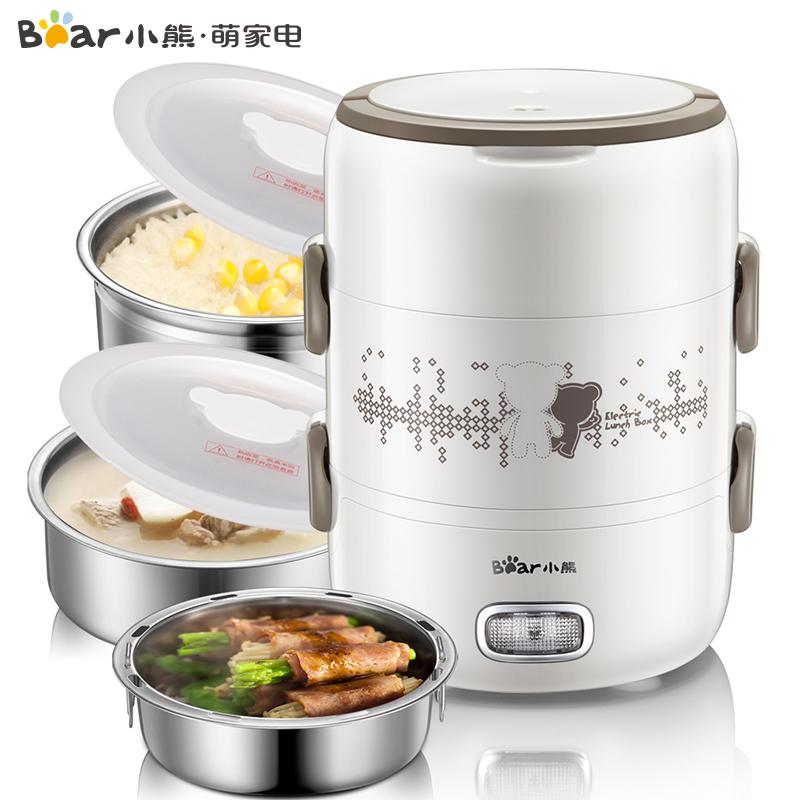 小熊(Bear)电热饭盒加热饭盒保温可插电加热三层蒸饭器  DFH-S2358蒸煮热全能 食品材质 负压保鲜 2升三内胆