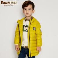 【3件3折 到手价:329】Pawinpaw卡通小熊童装冬男童连帽羽绒服中小童白鸭绒