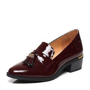 Belle/百丽2017春专柜同款时尚英伦漆皮牛皮女皮鞋BGZ29AM7