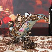 欧式复古红酒架家居客厅摆件奢华装饰品树脂创意工艺品酒柜摆设品