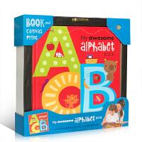 【送帆布字母表】英文原版绘本 My Alphabet Book 我的神奇字母书 幼儿趣味认知启蒙读物 精装 0-3岁儿