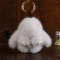 钥匙挂件女可爱毛绒韩国创意公仔饰品吊坠貂毛包包挂饰汽车钥匙扣