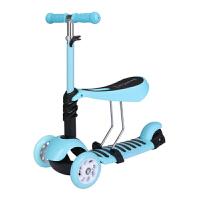 儿童滑板车三合一滑板手推车学生滑板车1-2-3-8岁宝宝可坐初学者男女孩小孩溜溜车