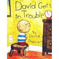 英文原版 David Gets in Trouble 大卫不可以系列 吴敏兰绘本图画书 大卫惹麻烦