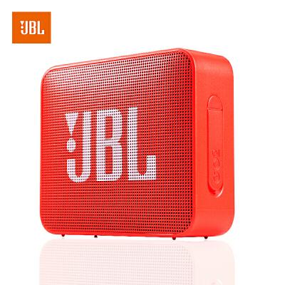 【当当自营】JBL GO2 珊瑚橙 音乐金砖二代 蓝牙音箱 低音炮 户外便携音响 迷你小音箱 可免提通话 防水设计