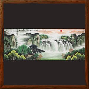 1.8米山水《金山银水歌盛世》中华两岸书画家协会主席R1667