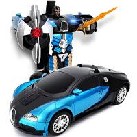 电动变形机器人儿童玩具 3-6周岁遥控汽车金刚赛车兰博基尼充