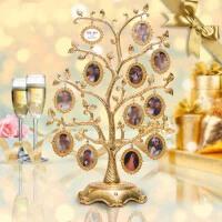 情人节礼物送女生男友创意欧式摆件结婚送闺蜜DIY定制实用照片树 24挂树