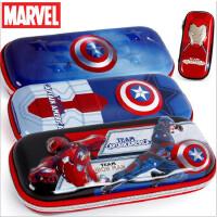 包邮迪士尼正品笔袋小学生男童美国队长变形金刚文具笔盒创意大容量儿童铅笔袋