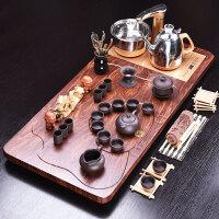 家用陶瓷茶杯全自动电磁炉茶台茶道实木茶盘紫砂茶具套装