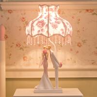 结婚礼物台灯欧式婚房床头长明灯卧室暖光浪漫温馨