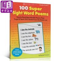 【中商原版】学乐100个超关键词诗100 Super Sight Word Poems, G PreK-1