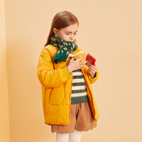 【2件3折:135】巴拉巴拉旗下巴帝巴帝2019冬新款女童中大童时尚休闲棉服儿童保暖外套