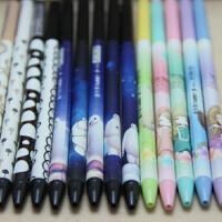 韩国文具创意细杆小清新可爱学生糖果色0.5mm蓝芯按动圆珠笔批发