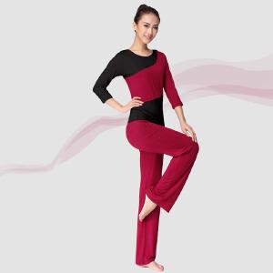 瑜伽服  时尚拼接个性潮流高弹力套装运动户外健身房运动服新款莫代尔健身服