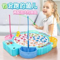 钓鱼玩具套装 儿童磁性男女孩1-2-3岁宝宝小猫电动钓鱼池益智戏水