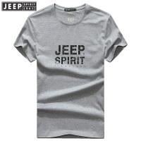 世界杯爆款 JEEP SPIRIT吉普 2018年夏季新品男士圆领宽松全棉短袖T恤11730704008
