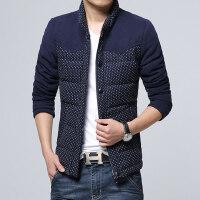 冬装新款男士休闲韩版棉衣短款修身立领男装棉服外套加厚潮