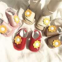 宝宝公主鞋春夏花朵镂空学步婴儿鞋子凉鞋