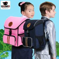 【台湾进口】unme台湾正品1至4低年级小学生双肩减负护脊书包男儿童书包女