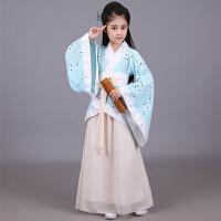 儿童汉服女小孩中国风公主仙女淡雅舞蹈服装女学生改良古装演出服