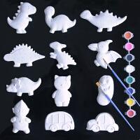 儿童diy益智玩具陶瓷白胚涂色石膏幼儿园创意手工制作娃娃绘画
